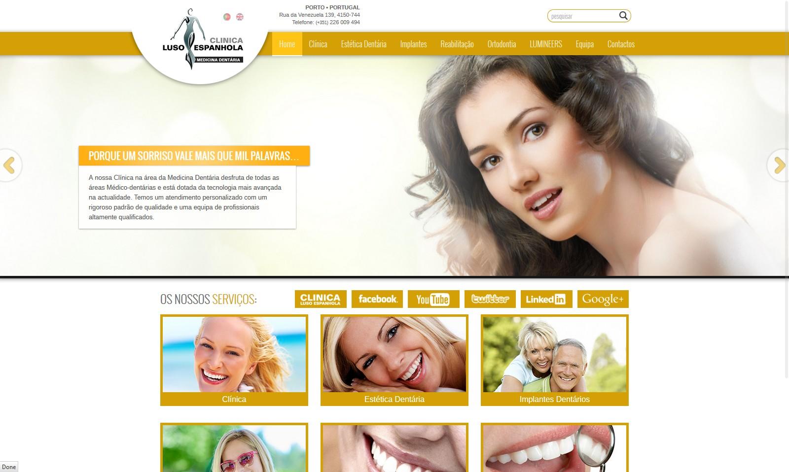 Clinica Dentaria Luso Espanhola Novo Website